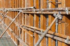 Concrete formwork plywood frame Stock Photos