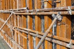 Concrete formwork plywood frame Stock Image