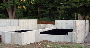 Concrete foundation Stock Photography