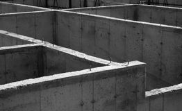 Concrete Foundation. The cement foundation of a new housing development Stock Images