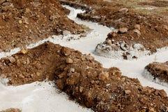 Concrete foundation labyrinth Stock Images