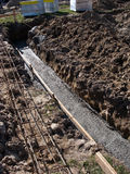 Concrete foundation rebars Royalty Free Stock Image