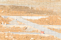 Concrete foundations Royalty Free Stock Photo