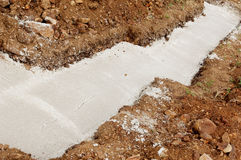 Concrete foundations Royalty Free Stock Photography