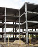 Concrete framework of the future building in the construction site Royalty Free Stock Photo