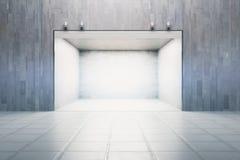 Concrete garage Royalty Free Stock Image