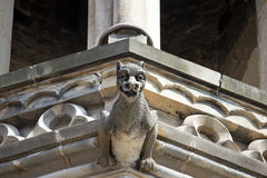 Crouching Gargoyle Landscape Royalty Free Stock Photography