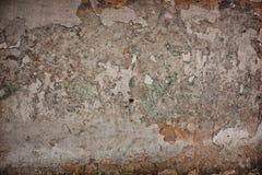Concrete gebarsten muur Stock Afbeeldingen