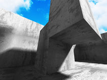 Concrete geometric architecture abstract background Royalty Free Stock Photography