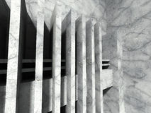 Concrete geometric architecture. Abstract modern urban construct Stock Photography