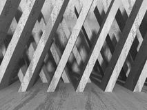Concrete geometric architecture. Abstract modern urban construct Stock Image