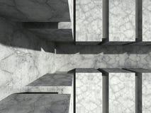 Concrete geometric wall unde sun light. Abstract architecture ba. Ckground. 3d render illustration stock illustration