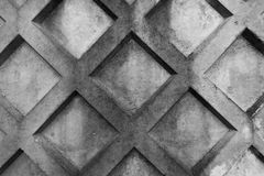 Concrete geometrical fence black and white. Photo Royalty Free Stock Photography