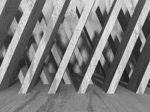 Concrete geometrische architectuur Abstract modern stedelijk concept Stock Afbeelding