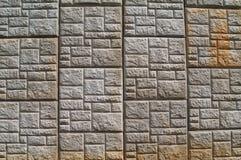 Concrete Gevormde Behoudende Muur langs een weg stock foto's