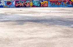 Concrete and graffiti wall Royalty Free Stock Image