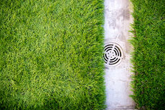 Concrete and grass Stock Images