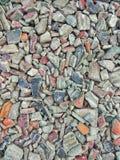 Gravel on ground. Concrete &gravel on grounds stock photos