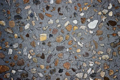Concrete and gravel pattern background Stock Photo