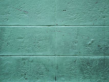 Concrete green wall. Far abackground Stock Image