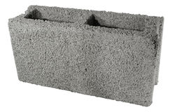 Concrete grey block for building isolated. Stock Images