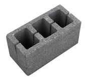 Concrete grey block for building isolated. Concrete grey block for building isolated stock image