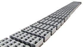 Concrete Grijze blokken - - Perspectief Stock Foto's