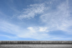 Concrete ground with cloudy sky Stock Photo