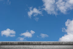 Concrete ground with cloudy sky Royalty Free Stock Photography