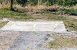 Concrete heliport base. Stock Photography
