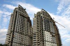 Concrete Highrise Construction Site Stock Photo
