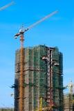 Concrete Highrise Construction Site Stock Photography