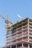 Concrete highrise construction site Stock Images