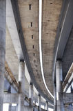 Concrete highway. Big concrete highway under construction Royalty Free Stock Images