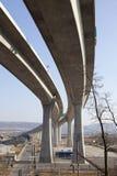 Concrete highway bridge Royalty Free Stock Photo