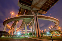 Concrete highway overpass Royalty Free Stock Image