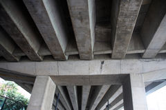 Concrete highway pillars Stock Photography