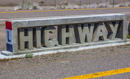 Concrete Highway Sign Stock Images