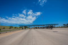 Concrete Highway Toll Gates Stock Image