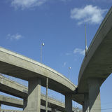 Concrete Highway Viaducts Stock Images