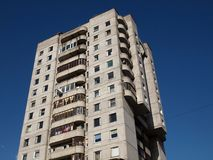 The concrete house. In the Vilnius city Royalty Free Stock Image
