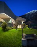 Concrete house, night scene Royalty Free Stock Images