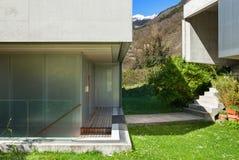 Concrete house, outdoors stock photo