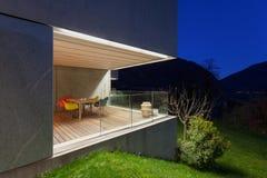 Concrete house, terrace stock photography
