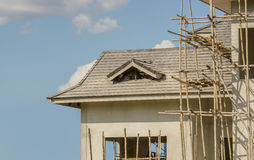 Concrete houses under construction Royalty Free Stock Photo