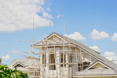 Concrete houses under construction Stock Photography