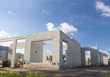 Concrete Huisbouw Stock Afbeeldingen