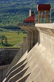 Concrete hydro electric dam Stock Photo
