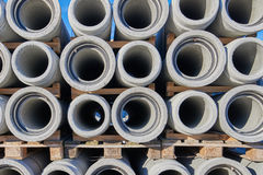 Concrete industrial pipes Stock Photo