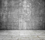 Concrete interior Stock Image